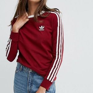 adidas Tops - 3-Stripes Long Sleeve T-Shirt